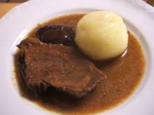 Fleisch: Sauerbraten - nicht ganz klassisch - Rezept
