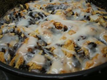 Backen: Rosenkuchen mit Mohn und Apfel - Rezept
