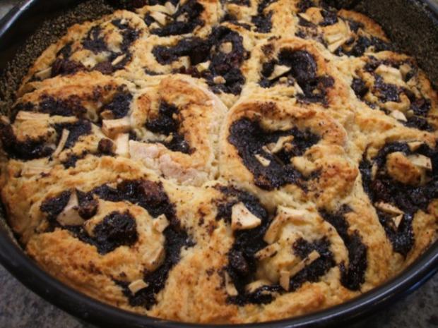 Backen: Rosenkuchen mit Mohn und Apfel - Rezept - Bild Nr. 10