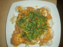 Fisch mit Kokossoße und Blumenkohl - Rezept