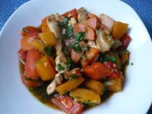 Kürbis - Wok - Gemüse - Rezept
