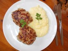 Fleischküchle mit Kartoffelbrei - Rezept