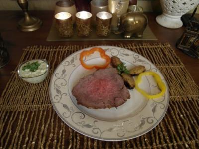Roastbeef an Remouladensoße und Bratkartoffel - Rezept
