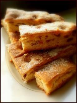 Stollen-Kuchen von Blech - Rezept