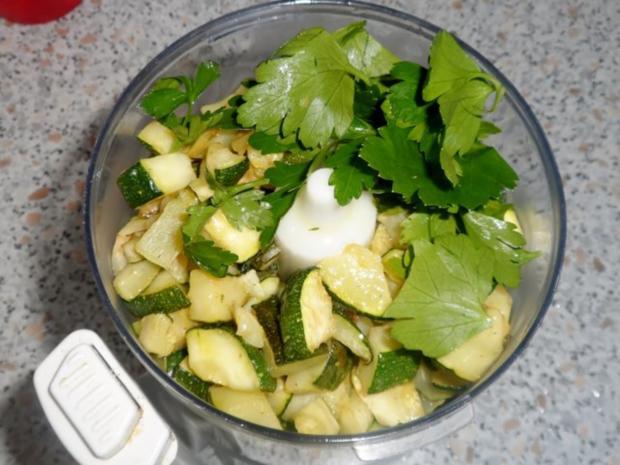 Vorspeisen/Dips: Würziger Zucchini-Schafskäse-Dip - Rezept - Bild Nr. 5