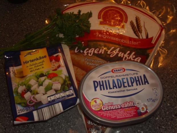 Sigaren Börek mit Schafskäse-Philadelphia creme - Rezept - Bild Nr. 2