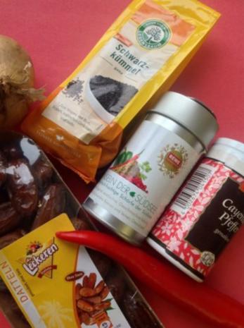 Curry Frischkäse-Dip mit Datteln - Rezept - Bild Nr. 3