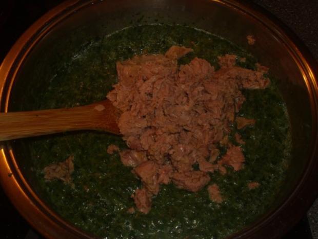 Pasta mit Spinat, Thunfisch und Krabben - Rezept - Bild Nr. 3