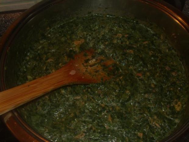 Pasta mit Spinat, Thunfisch und Krabben - Rezept - Bild Nr. 5