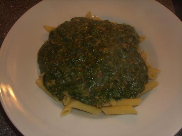 Pasta mit Spinat, Thunfisch und Krabben - Rezept - Bild Nr. 7