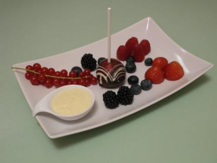 Schokoladen Cake Pops mit Früchten - Rezept