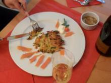 Kürbis-Kartoffel-Petersilien-Reibekuchen - Rezept