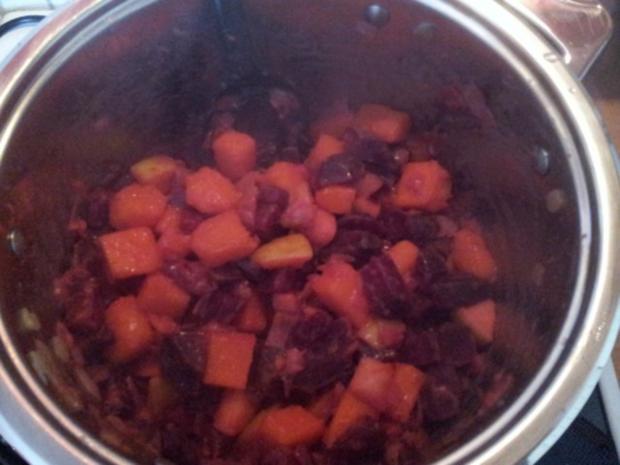 Rote Bete-Kürbissuppe - Rezept - Bild Nr. 8