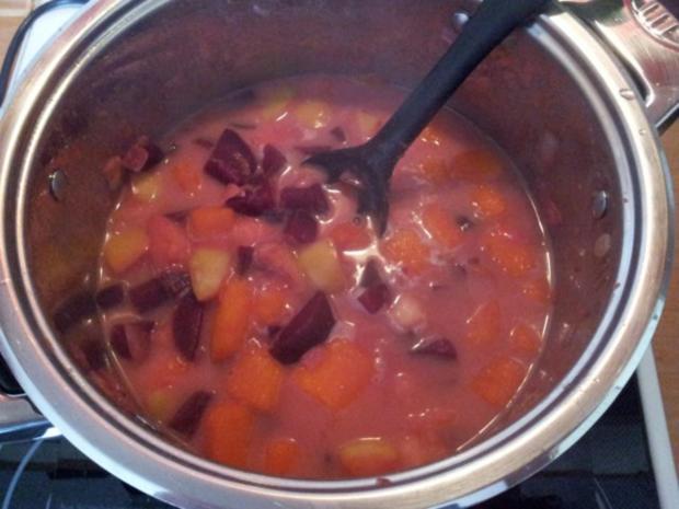 Rote Bete-Kürbissuppe - Rezept - Bild Nr. 9
