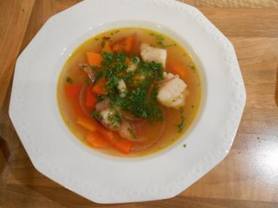 Schnelle Fischsuppe mit Gemüse - Rezept