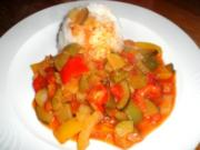 Buntes Gemüseallerlei mit Reis - Rezept