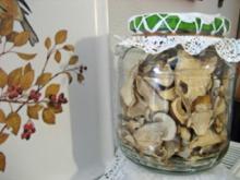 Pilze haltbar machen - erst einmal: Trocknen - Rezept
