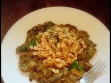 Haselnuss-Mandel-Knöpfle mit Pilzen - Rezept
