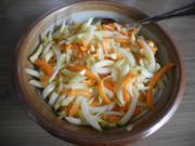 Vegan : Obst / Gemüse - Salat mit Kokosöl und Kokosblütensirup - Rezept