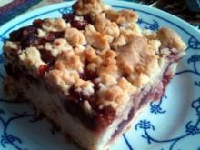 Cherry Cake Crumble - Rezept