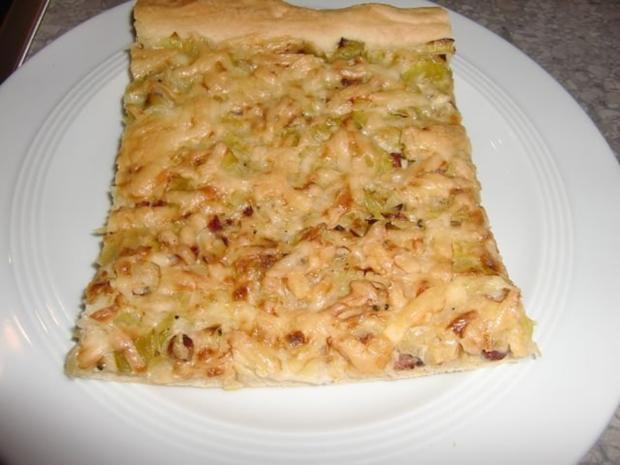 Pizza mit Lauch und Schinkenwürfel - Rezept - Bild Nr. 20