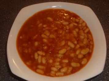 Rote Linsen mit weißen Bohnen und Tomaten - Rezept