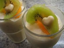 Dessert: Kiwi-Kaki-Joghurt - Rezept