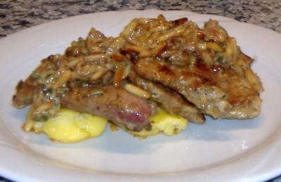 Kalbsleber mit Marsala und sizilianische Quetschkartoffeln - Rezept