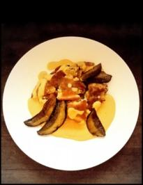 Pilz-Schmarrn mit Karottensoße - Rezept