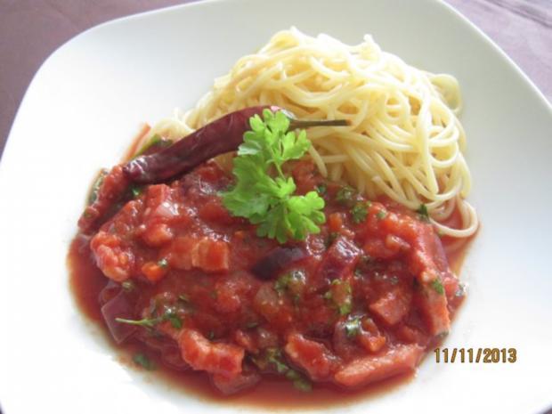 Spaghetti all`amatriciana - Rezept