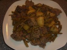 Grüne Bohnentopf mit Lammfleisch - Rezept
