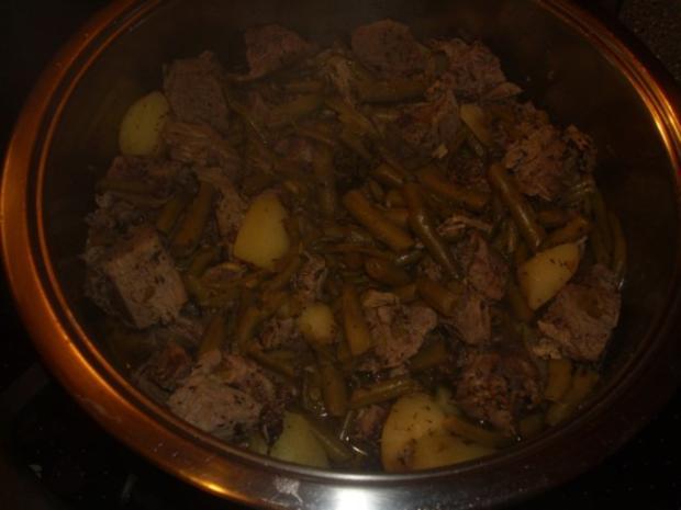 Grüne Bohnentopf mit Lammfleisch - Rezept - Bild Nr. 5