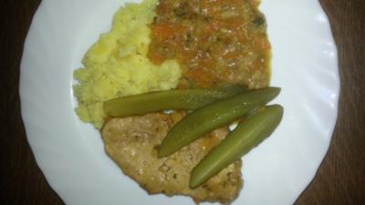 Schnitzel im Gemüse Beet - Rezept