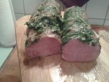 Schweinelende mit Kräuter (Niedrigtemperatur) - pochiert - Rezept