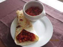Kichererbsen-Curry gefüllt in Tortilla-Warps - Rezept