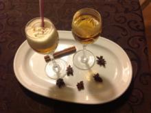 Bratapfellikör mit Sahnehaube - Rezept