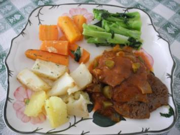 Vegan : Rindvleischgulasch mit Gemüse - Rezept