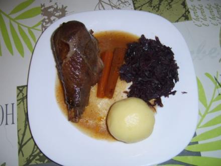 Erdnussputenkeulen in Forstmeisters Marinade - Rezept