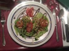 Hühnerterriene auf Blattsalat - Rezept