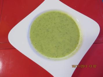 Suppe: Zucchinisuppe mit Ingwer und einer leichten Currynote - Rezept