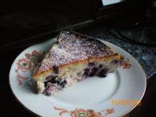 Kuchen: Käsekuchen mit Heidelbeeren - Rezept