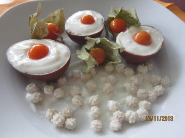Süße Kokos-Eier - Rezept