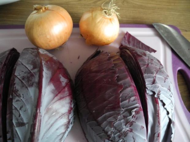 Vegan : Orangen - Apfel - Rotkraut - Rezept - Bild Nr. 3