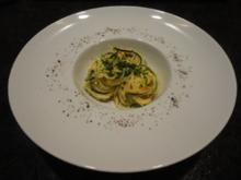 Pasta mit Gemüse Streifen und Mascarpone Sauce - Rezept
