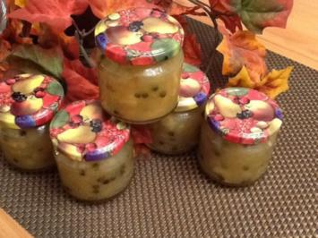 Apfel - Zwiebelchutney mit eingelegtem Grünen Pfeffer - Rezept