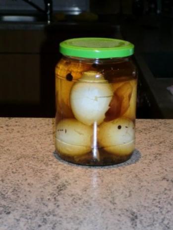 Soleier mit Senfdressing - Rezept