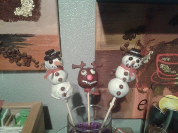 Schneemänner - Cake Pops - Rezept - Bild Nr. 3