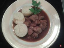 Zwiebelfleisch geschmort   - scharf - Rezept