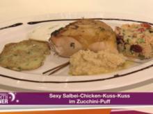 Sexy Salbei-Chicken-Kuss-Kuss im Zucchini-Puff (Miranda Leonhardt) - Rezept
