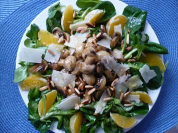 Rezept: Feldsalat mit Honig - Chamignons